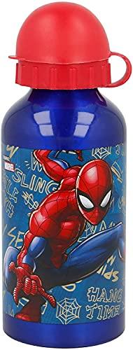 Borraccia Bottiglia in Alluminio per Bambini 400ml con beccuccio retraibile Spiderman