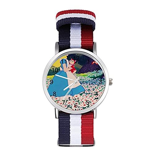 Los relojes son impermeables, versátiles, informales, estudiantes, hombres y mujeres, deportes, moda y temperamento simple anime dibujos animados
