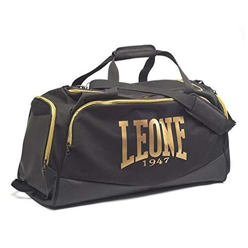 Leone 1947 Sporttasche Pro Bag Schwarz/Gold - Große Sporttasche Trainingstasche Gym Tasche für Kampfsport Fitness Boxen Muay Thai Fitness in edlem Schwarz mit Gold