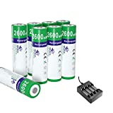 melasta 8 Pack NiZn AA-Akkus 2600mWh 1,6V AA NiZn wiederaufladbare akku Batterie mit Ladegerät für Digitalkamera Spielzeug MP4 RC Car Outdoor Solar Light Flash Mouse