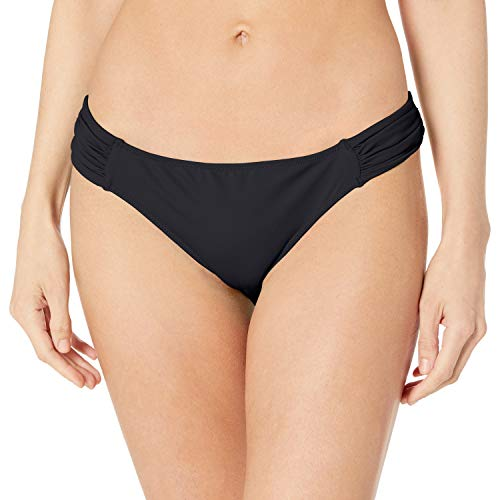 Smart & Sexy Women's Swim Secret Side Ruched Bikini Bottom, Black Hue, S
