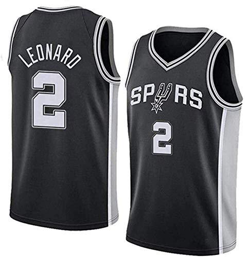 Jersey de Baloncesto para Hombre de la NBA, Spurs de San Antonio NBA 2# Kawhi Leonard Jerseys, Camiseta Deportiva sin Mangas de Ocio Transpirable (Size : Small)