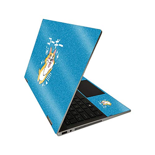 MightySkins Glossy Glitter Skin for HP Pavilion x360 14' (2020) - Corgi Kawaii | Protective, Durable High-Gloss Glitter Finish | Easy to Apply, Remove, and Change Styles | Made in The USA