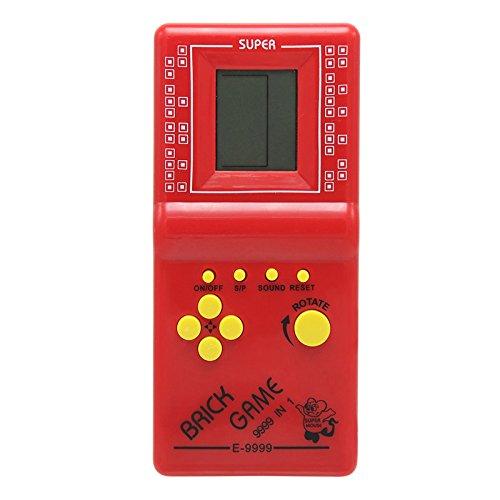 Tragbares Retro-Tetris-Spiel, Spielkonsole für Kinder, elektronisches Blockspiel