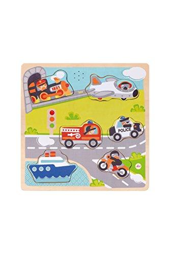 Trudi 82956 Mezzi di Trasporto Con suoni Puzzle, 23 x 2 x 23 cm