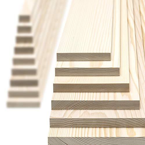 Glattkantbrett - Kiefer/Fichte gehobelt - 19 mm stark x Wunschbreite x 600mm lang Breite 30mm x 19mm x 600mm