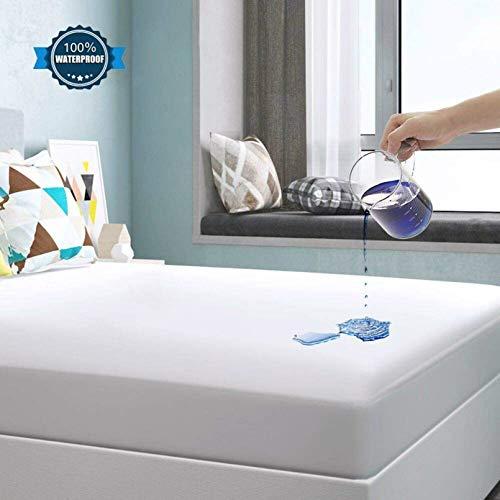 YOOFOSS Protector de Colchón Impermeable Cubrecolchón 160x190/200cm Ultra Suave y Transpirable 100% Tencel Hipoalergénico & Anti-Ácaros
