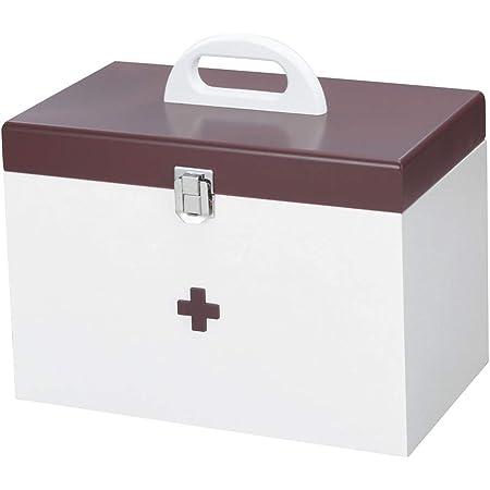 イシグロ デザイン小物 ホワイト/ブラウン W292×H253×D186mm イシグロ 救急箱(大) 60155