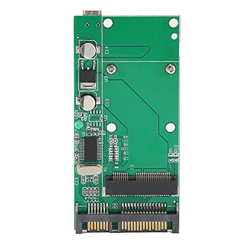 Tarjeta adaptadora SSD a SATA, luz indicadora de 7 Pines y 15 Pines convertidor Adaptador mSATA SSD a SATA, para ASUS UX31 UX21 XM11