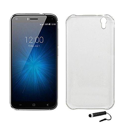 Ycloud Tasche für UMIDIGI London Hülle, Handy Backcover Kunststoff-Hard Shell Hülle Handyhülle mit stoßfeste Schutzhülle Smartphone Weiß Transparent