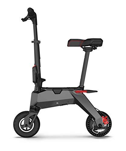 BGLMX Scooter Eléctrico Transformador 2 En 1 Y Mini Bicicleta, Hombre Mujer Scooter Eléctrico, Scooter Eléctrico Plegable Ligero, Bicicleta Eléctrica Portátil con Batería De Litio De 19000 Mah,Negro ✅