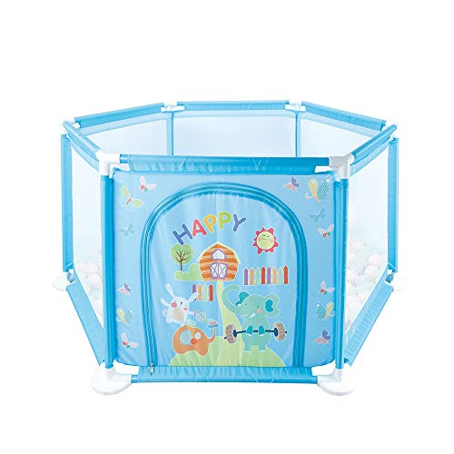 Toxz Baby Portable Playpen Ball Pool Tent Play House,Play Space for Children,Waterproof,Breathable Mesh,Rubber Suction Cup,Safety Material(Ship from US!)