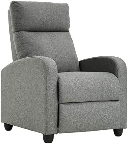 Best Fabric Single Sofa Recliner Chair Modern Reclining Seat Home Theater Seating for Living Room