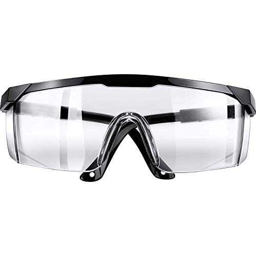 Safety Protective Goggles PORPEE Protective Glasses Lightweight Eyewear Clear AntiFog Lens