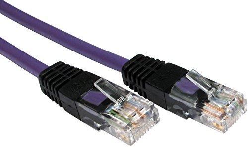 Rhinocables Cruzado RJ45 CAT5 Ethernet XOVER Color de Cable de Red LAN CAT5e Patch Lead (2m, Violeta)