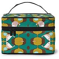 Bolsas de cosméticos Gourmet Garden Green Wallpaper (7352) Travel Makeup Bag Portable Makeup Boxes for Women Cosmetic Case Storage Organizer Travel Daily Carry