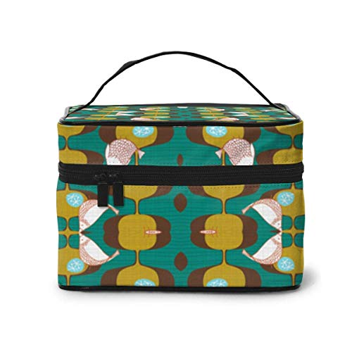 Bolsas de cosméticos Gourmet Garden Green Wallpaper (7352) Travel Makeup Bag Portable Makeup Boxes for Women Cosmetic Case Storage Organizer Travel Daily Carry