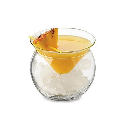 Cocktail En Verre Double Glace Creative Trigonométriques Coupe En Verre De Cocktail, Petit