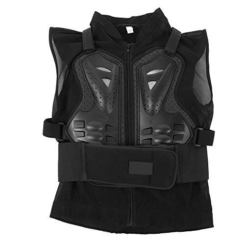 KIMISS Gilet sans manches de moto Protection du dos de la poitrine de la colonne vertébrale respirante pour l'équitation Sports de plein air(XL)