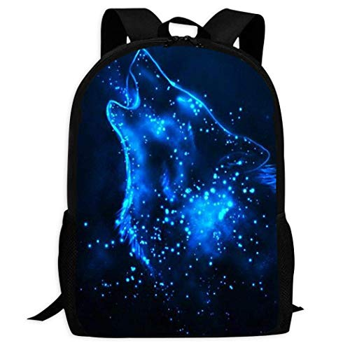 Lawenp Howl Galaxy Wolf Kids School Backpack Lightweight Travel Bag for Boys Students