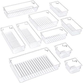 10-Piece Puroma Desk Drawer Organizer Trays