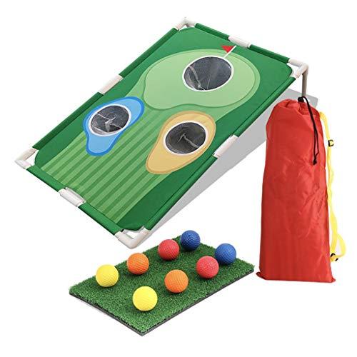 FEFCK Alfombrilla para Putt de Golf Juego de Tablero de Agujeros de práctica de Red de Corte Divertido, Disponible en Interiores y Exteriores Equipo de práctica de Golf fácil de Llevar