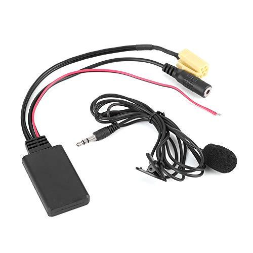 Adaptador de cable de audio Bluetooth para coche, adaptador auxiliar de manos libres de 59,1 pulgadas con micrófono apto para Alfa Romeo 159/Fiat Grande Punto