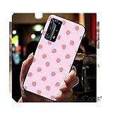 Jolie coque de téléphone en forme de fraise pour Huawei P30 Lite Pro P20 Lite P10 P Smart Plus Z...