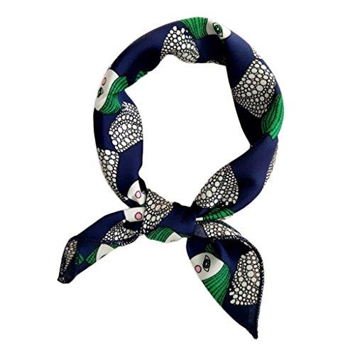 Satin-Halstuch für Damen, quadratischer Halstuch, Wickeltuch, elegantes Design, 50 cm x 50 cm