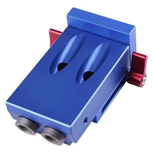 Juego de guía de taladro oblicuo, 5 piezas de superficie anodizadora, práctica y duradera, herramienta de localización de posicionador de aleación de aluminio, 9,5 mm * 30 mm para