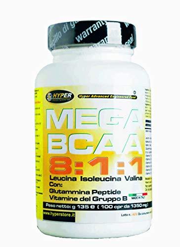 Bcaa 8 1 1 Aminoacidi Ramificati 1200 Compresse + Porta Pillole con Glutammina Peptide e Vitamine del Gruppo B 8 leucina, 1 Isoleucina, 1 Valina | Aumento Massa Muscolare Favorisce il Recupero