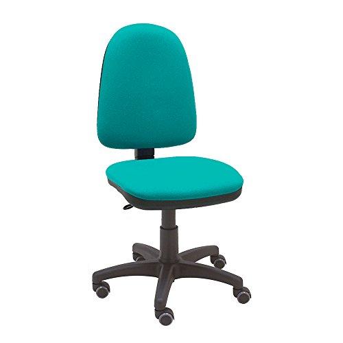 La Silla de Claudia - Silla giratoria de escritorio Torino turquesa para oficinas y hogares ergonómica con ruedas de parquet