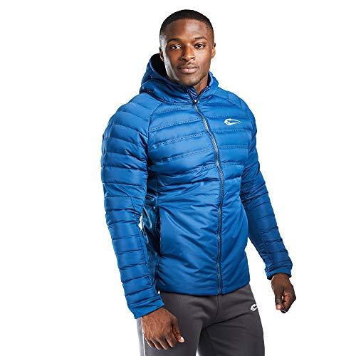 SMILODOX Herren Padded Thunder | Winterjacke, Übergangsjacke | Jacke für Sport Fitness & Freizeit | Trainingsjacke mit Reißverschluss, Größe:L, Farbe:Blau
