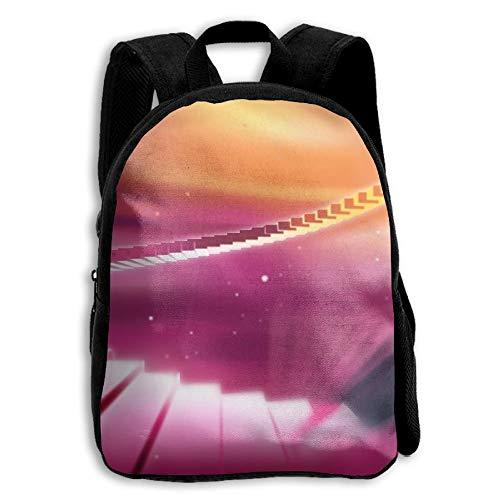ADGBag Children's Rhythmic Colorful Piano Wallpapers Backpack Schoolbag Shoulders Bag for Kids Kinder Rucksack