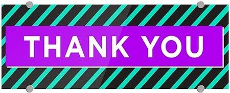 CGSignLab 8x3 Modern Block Premium Acrylic Sign Thank You 5-Pack