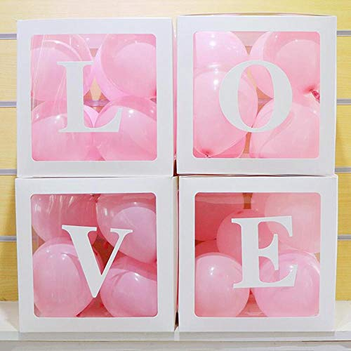Best Quality - Party DIY Decorations - 4pcs hot big transparent gift boxes baby shower decor christening favors propose supplies baby love packaging boxes - by LEV - 1 PCs