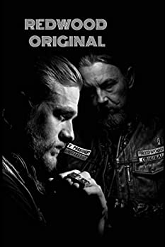 REDWOOD ORIGINAL  JAX TELLER and Chibs telford -Lined notebook - 100 pages - BLACK COLOR - 6x9 -matte cover.