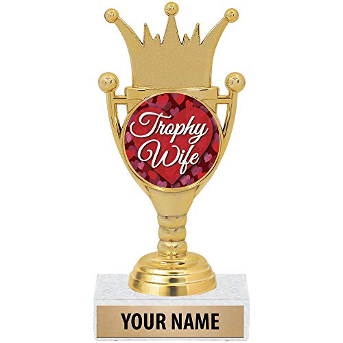 Personalized for Her, Funny Trophy Wife Award with Custom Engraving Included Prime