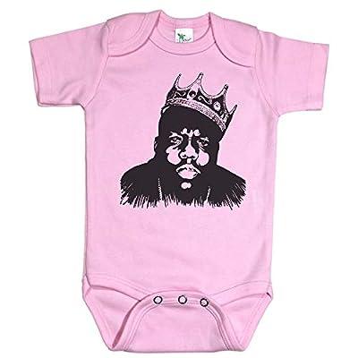 Baffle Biggie Smalls Baby Onesie/Biggie/Notorious Big Infant Bodysuit (6-12M, Pink)