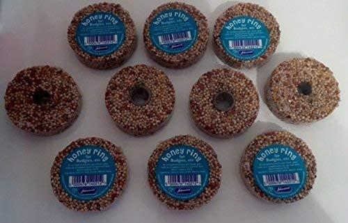 Honig Samen Ringe (10er Packung) - für Wellensittiche usw