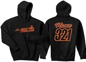Just Ride Quad Hoodie Sweat Shirt ATV Racing (Large, 12 Orange)