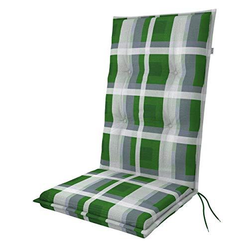 doppler Hochlehner Living - Polsterauflage - Mit Rückenhalteband und Bindebänder - Für Gartenstühle und besten Sitzkomfort