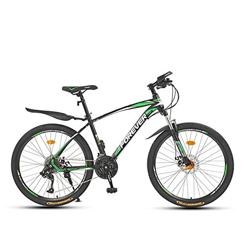 Bicicleta de montaña para adolescentes adultos Bicicleta de montaña rígida de acero con alto contenido de carbono con absorción de impactos Velocidad variable Bicicleta todoterreno,D,24' 24 speed