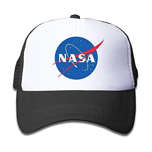 Youth Children Kids Fashion NASA Logo Baseball Cap Hat Snapback Black Black