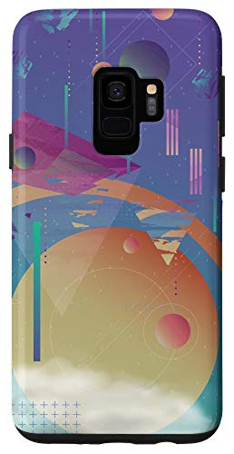 Galaxy S9 Outer Space Modern Abstract Aesthetic Purple Yellow Collage Case