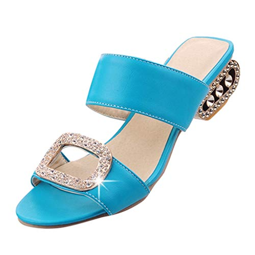 CixNy Sandalen Damen Sommer Plateau Keilabsatz Schuhe Wildleder Schuhe Peep Toe High Heel Bequeme Mode Freizeit Wasser Kristall Fisch Mund Sandalen Hausschuhe
