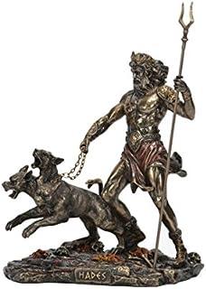 CAPRILO Figura Decorativa Mitológica Hades con Cerbero Figuras Resina. 17 x 9,5 x 23 cm.