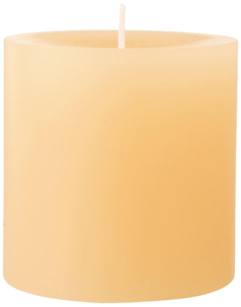 ハンカチ今晩膨張する75×75ピラーキャンドル 「 ベージュ 」 A5000000BG