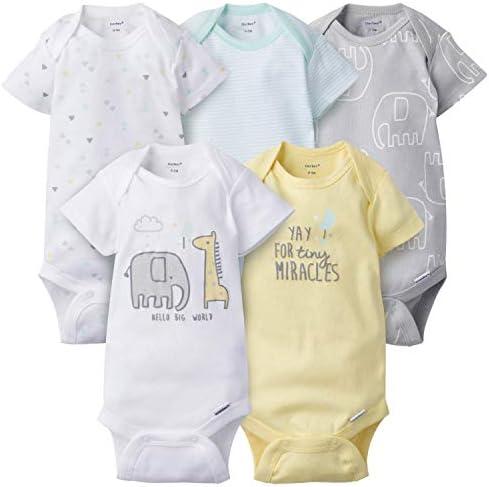 Gerber Baby 5 Pack Variety Onesies Bodysuits Elephant Dream Newborn product image