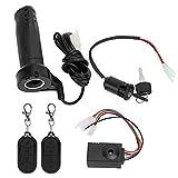 Dilwe Alarma de Bicicleta eléctrica, 3pcs / Set Alarma antirrobo electromóvil con empuñadura del Acelerador del Cable de Longitud Adecuado para triciclos eléctricos, etc